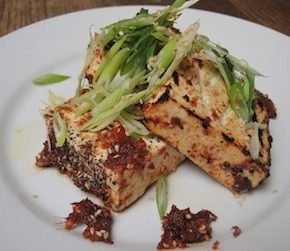 BBQ Tofu with Sun Dried Tomato BBQ Sauce