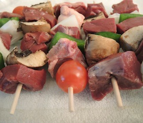 Beef Heart Skewers with Chimichurri