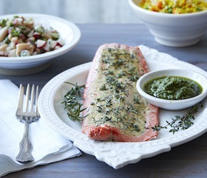Broiled Sockeye with Garden Herbs