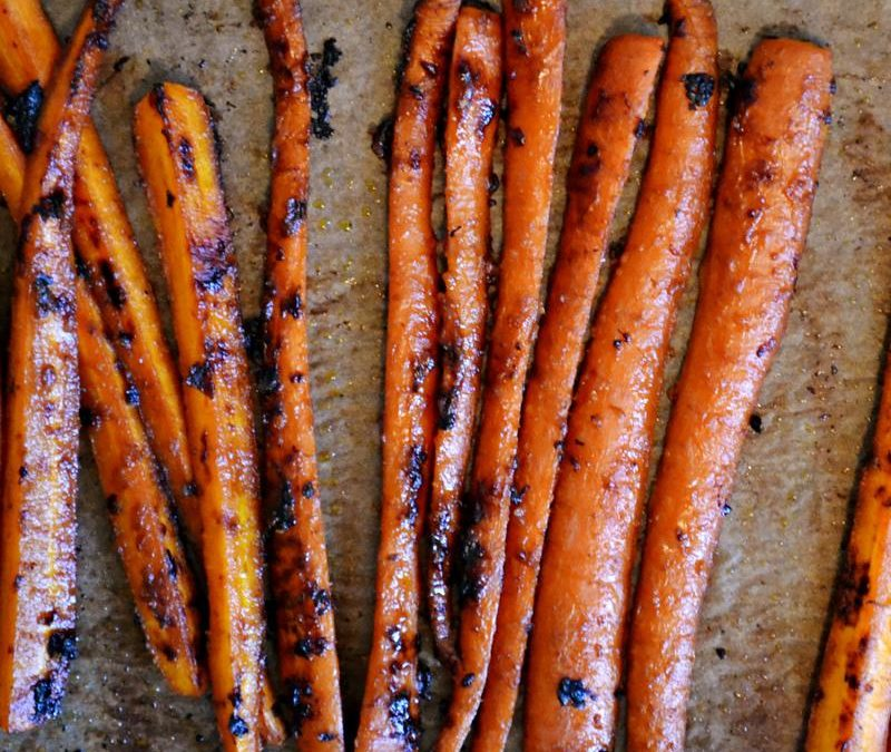 Ginseng and Miso Glazed Roasted Carrots