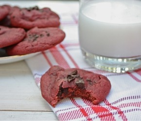 Heart Beet Chocolate Chunk Cookies