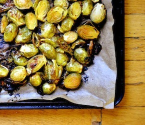Miso Butter Glazed Brussels Sprouts