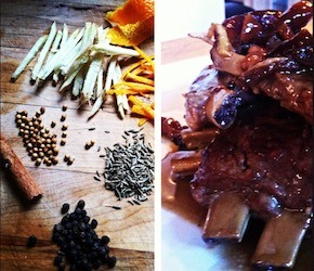 Moroccan Spiced Braised Pork Back Ribs