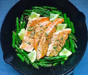 Pan Seared Trout snd Asparagus