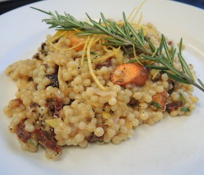 Pearl Couscous with Roasted Root Vegetables