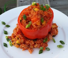 Summery Stuffed Sweet Peppers