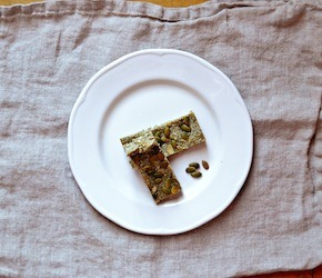 Sweet & Salty Pumpkin Seed Coconut Bars