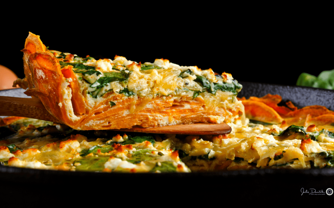 Spinach Sweet Potato Frittata