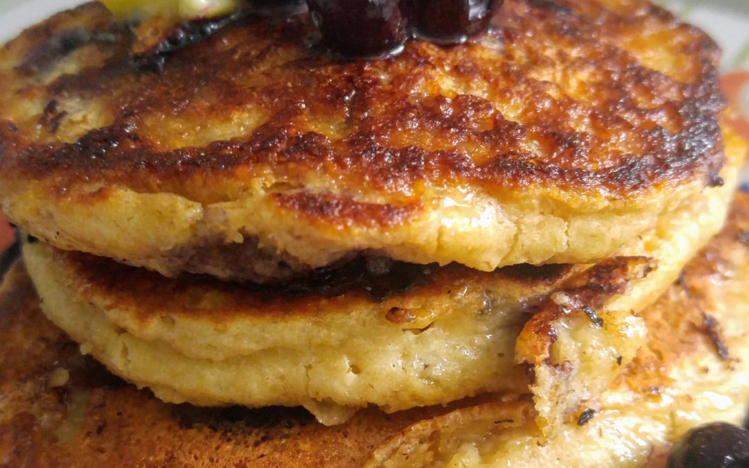 Gluten-free Blueberry Yogurt Pancakes