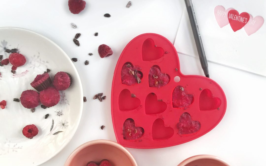 Raspberry Chocolate Heart Bites