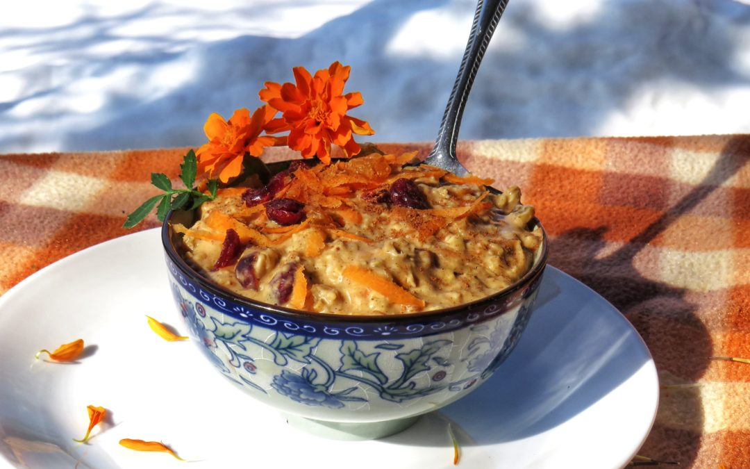 Carrot Cake Oatmeal Bowl