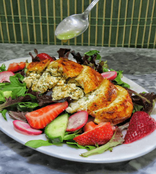 Feta Stuffed Chicken Summer Salad